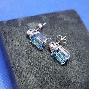 Jewelry - Aquamarine 14k White Gold Earrings